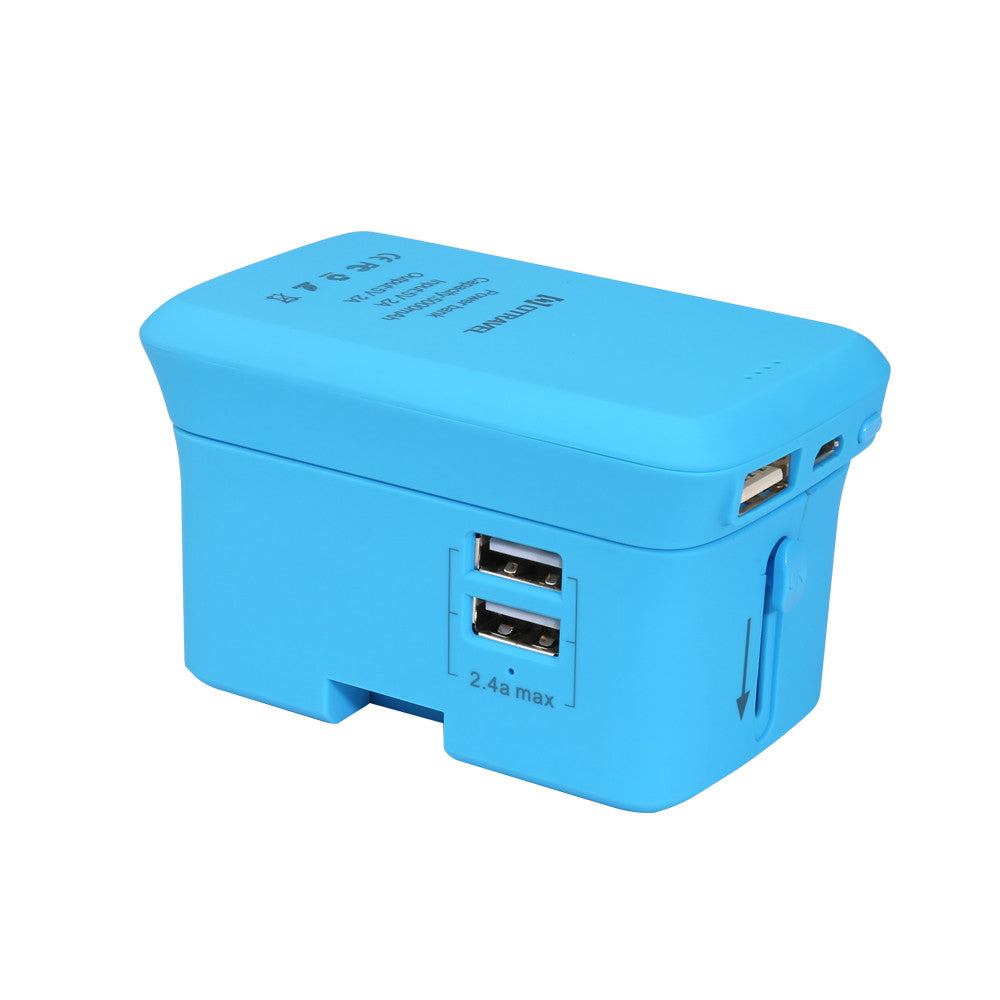 Universal Smart  Travel Power Adapter Portable 5000mAh 2 USB Charger