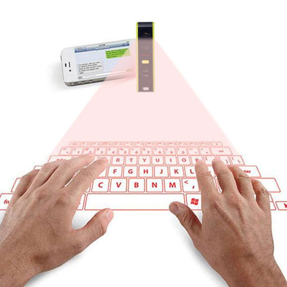 Wireless Bluetooth Laser Virtual Projection Keyboard Laser English QWERTY Keyboard