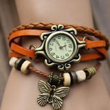 Butterfly Love Wrap Watch made with Vegan Leather