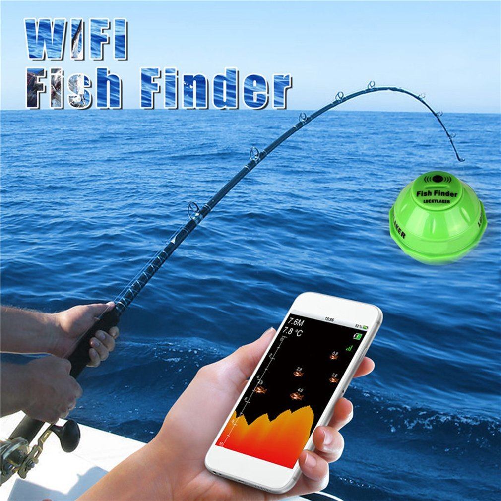 Sonar Wireless WIFI Fish Finder 50M/130ft