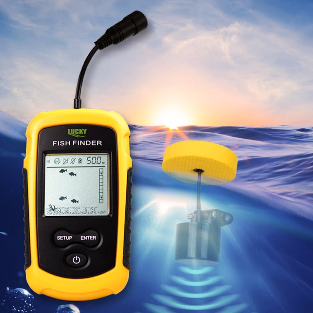 Lucky Portable Fish Finder Sonar with Sounder Alarm