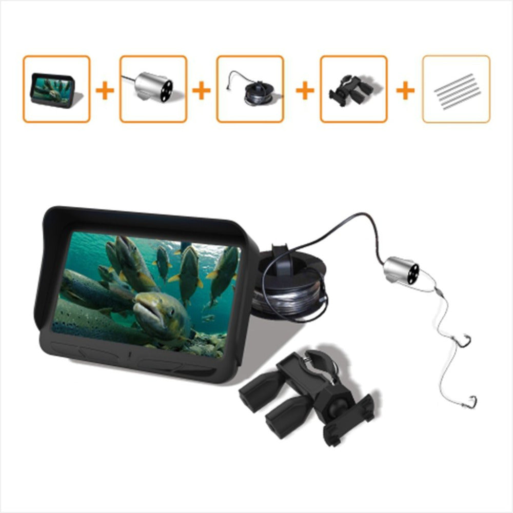 Video Fish Finder HD Monitor Infrared LED Waterproof Underwater Camera