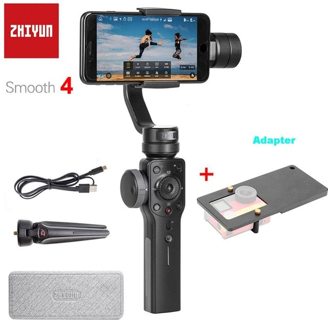 ZHIYUN Smooth Q 4-Axis Handheld Professional Motion Smartphone Stabilizer for Smartphones