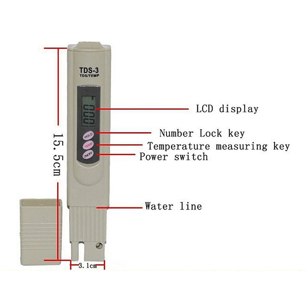 Portable Pen Digital TDS LCD Water Tester Monitor