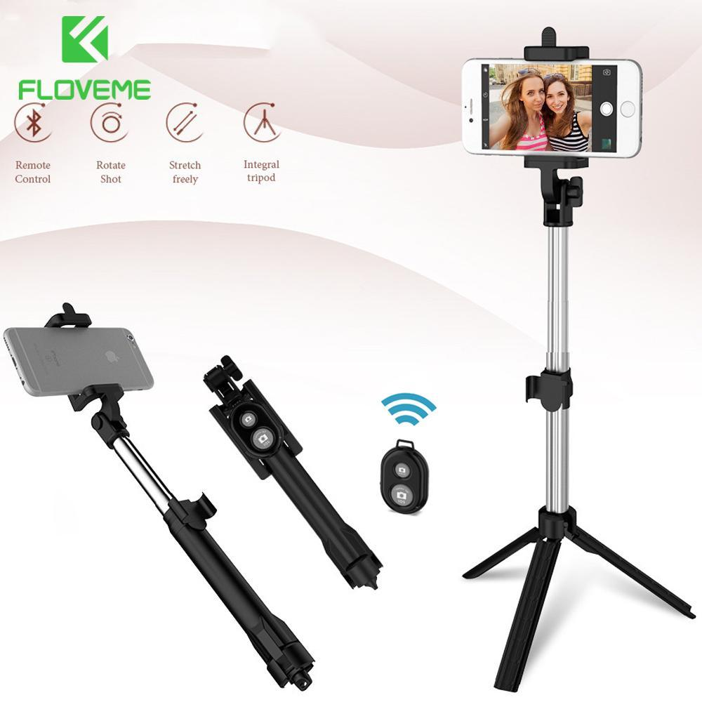 Tripod Remote Control Wireless Bluetooth Handheld Smartphone Selfie Stick