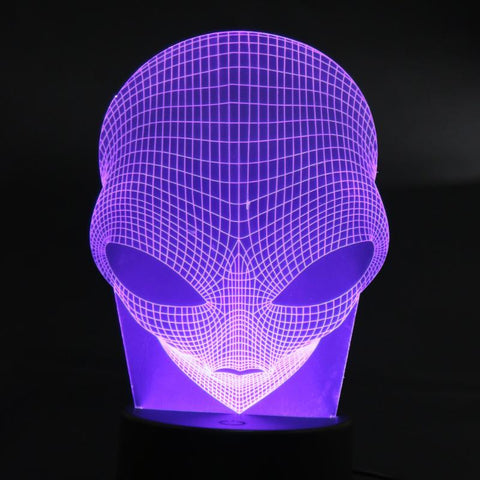 SOLD OUT!! - Alien Head 3D Touch Switch LED Rechargeable Table Lamp / Night Light