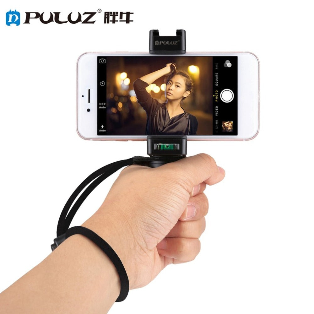 Handheld Grip Holder Selfie Rig Stabilizer with Tripod Adapter Mount
