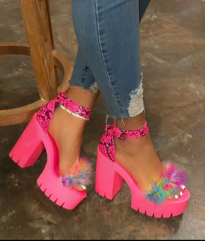 Cotton Candy Heels