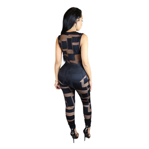 Deep V-neck Party Bodycon Jumpsuit - Kelita's Kloset