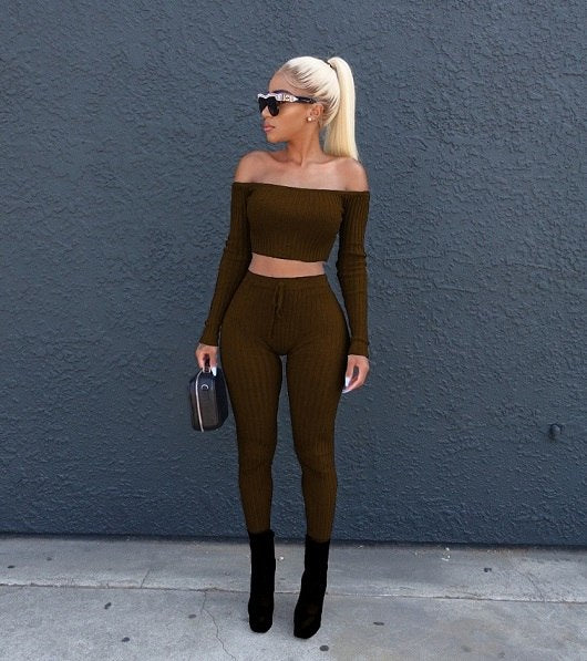 2PC Crop Top Jumpsuit - Kelita's Kloset