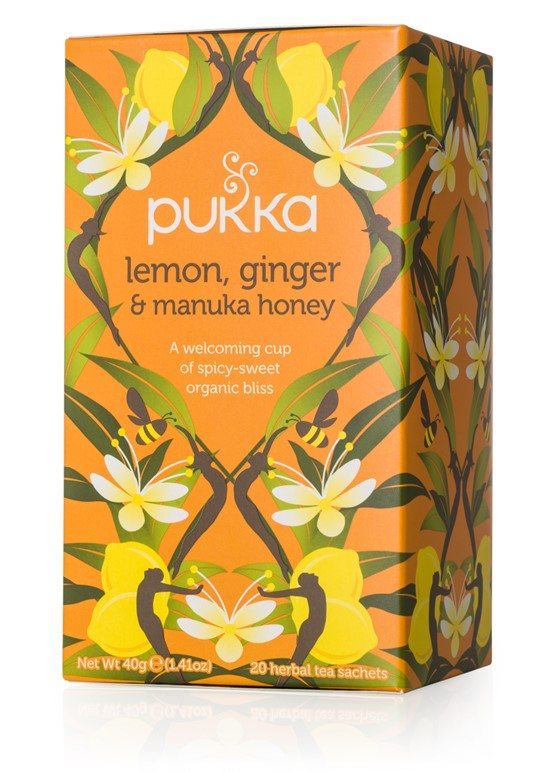 Lemon ginger and manuka honey, Pukka - 20 sachets