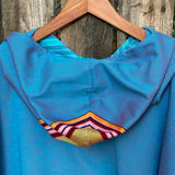 Surf Poncho Sharkskin Blue