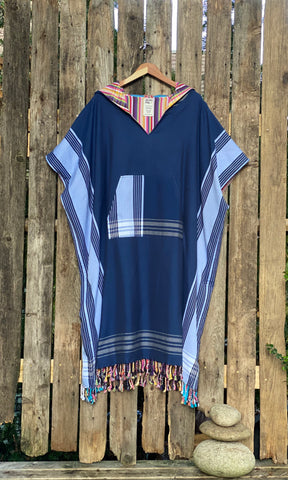 Urchin Color Surf Poncho for Cool Weather 100/% Cotton Lined