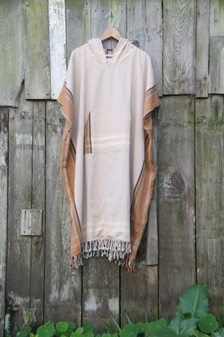 Double Lined Driftwood Surf Poncho