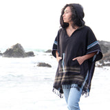 Black Sand Poncho Top
