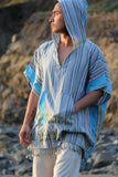 Adult Poncho Top Beach Stripes
