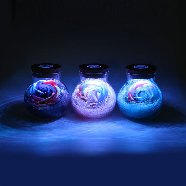 LED Rose Bottle Lamp