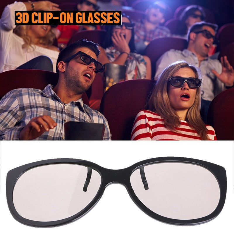 Passive Polarized 3D Clip-On Glasses For TV