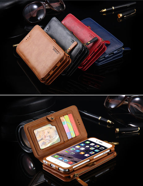 Luxury Retro Leather Wallet Case
