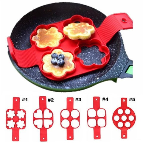 5 Shape Creative Frying Pan Molds
