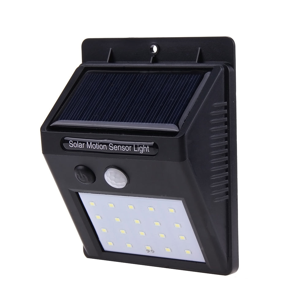 20 LEDs Waterproof Sensor Solar Wall Lamp Outdoor Garden