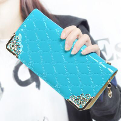 Luxury Vintage Women Clutch Leather Card Holder