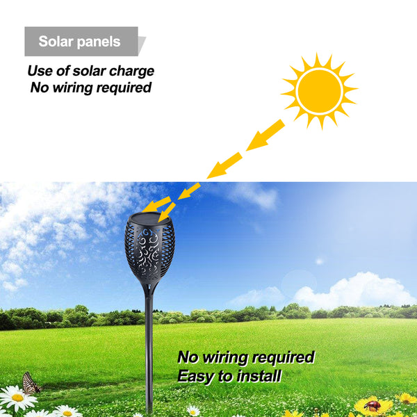 Solar LED Torch Light