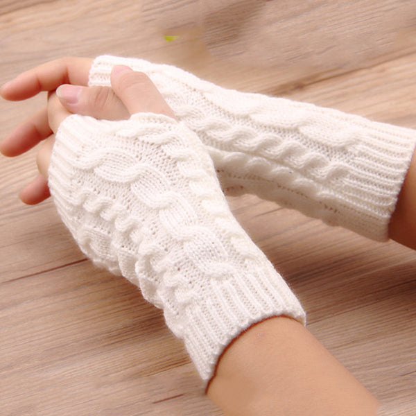 Arm Crochet Knitting Fingerless Gloves