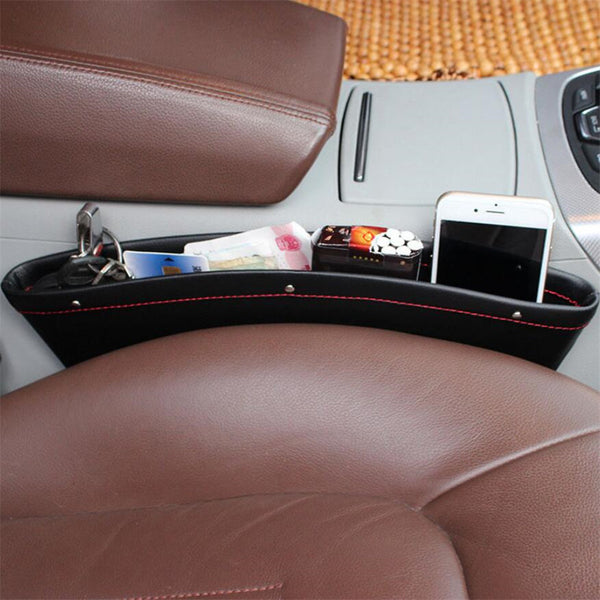 2pcs PU Leather Car Organizer
