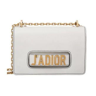 Dior J'ADIOR Flip Bag - White