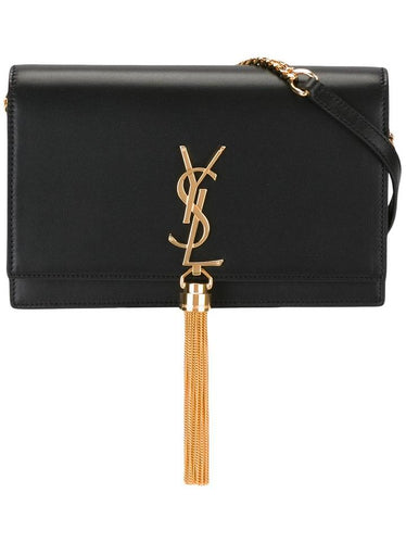 Saint Laurent Small Kate Tassel Monogram WOC - Black
