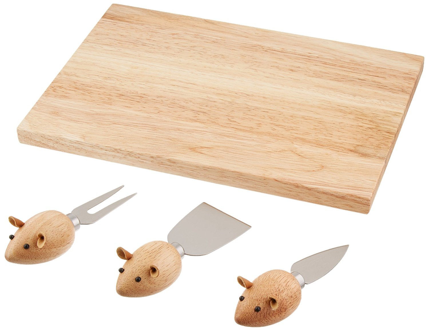 Mouse Cheese Knives with Cheesboard