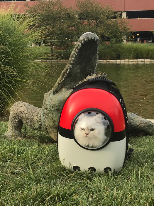 Pokeball Dog Carrier Backpack