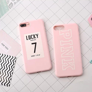 Cute Letter PINK Lucky Number
