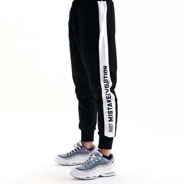 Men Casual Pants, Straight Trousers Patchwork Long Pants Cotton Sweatpants Jogger Tracksuit