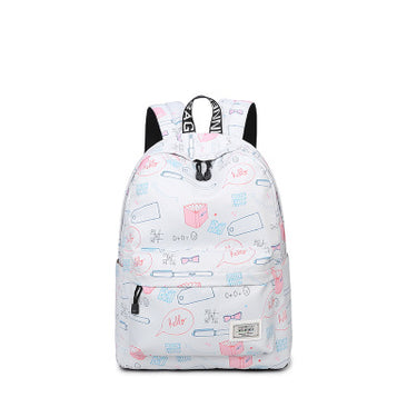 Waterproof Printing Backpack Bags Fashion Casual Canvas Backpack Large Capacity School Bags