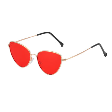 Fashion Vintage Cat Eye Sunglasses Mirror Lens Metal Frame Eyewear UV 400 Protection for Male/Female
