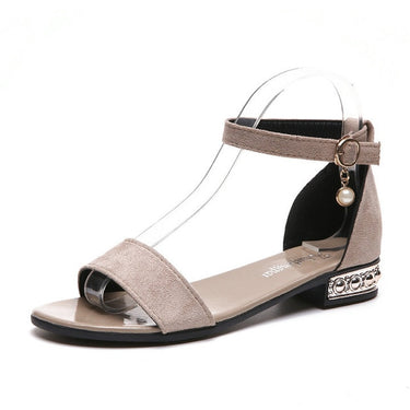 Roman Suede Leather Women Sandals