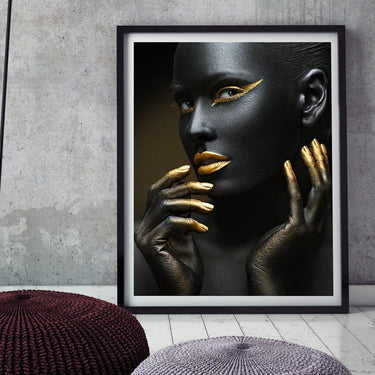 Picture Prints Artist Sexy Black woman Model Posters and Prints Cuadros Decoracion Wall Art picture Wall poster for living room