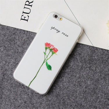 For iPhone 6s 6 Case KISSCASE Cool 3D Relief Plant Cases For iPhone 5s 5 SE X 7 8 6s 6 Plus Cute Flower Leaf TPU Back Cover Capa