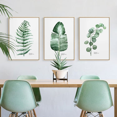 Modern Nordic Style Green Plants Cactus Triptych Canvas Paintings Wall Pictures For Living Room Posters And Prints Home Decor HD