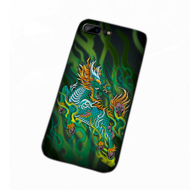 Chinese Style iPhone X Protective Cover Embossed 3D Three-Dimensional  Cases