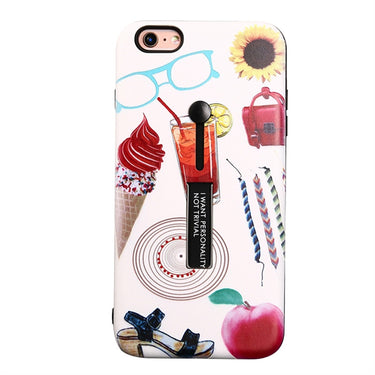 Protective Phone Cover Shockproof Hand Painted Color Pattern Anti-Scratch TPU Phone Case Cover for iPhone 6/6S
