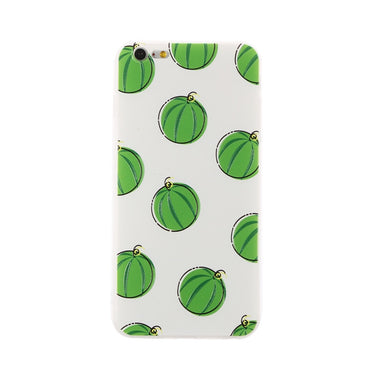 Soft TPU Phone Case Embossed Pattern of Mature Watermelon Anti-scratch Shockproof Phone Cover for iPhone 6 Plus/6S Plus