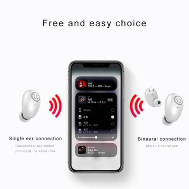 Portable Magnetic Binaural Wireless Bluetooth Earphone