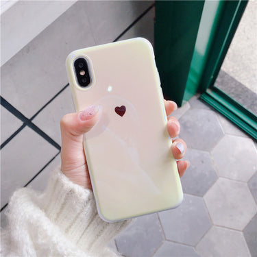 Love Heart Soft silicon Mirror case for iphone