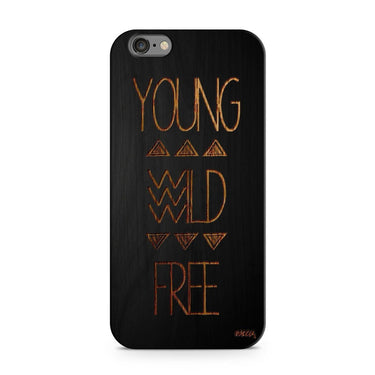 Wooden Phone Case - For iPhone and Samsung   - Young Wild Free