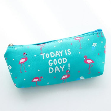 Cute Kawaii Flamingo Leather Pencil Cases Stationery Storage Pen Bag Gift School & Office Pencil Bags Sweet lovelty Pencil Pouch