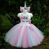 Girls Pastel Unicorn Tutu Dress - Kids Birthday Party Outfit - Tutu-Dresses.com