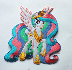 Princess Celestia Patch, Large Embroidery Patch, Iron on patch. Sew on patch. My Little Pony patch. MLP transfer. Applique. LARGE 15x12cm - Tutu-Dresses.com